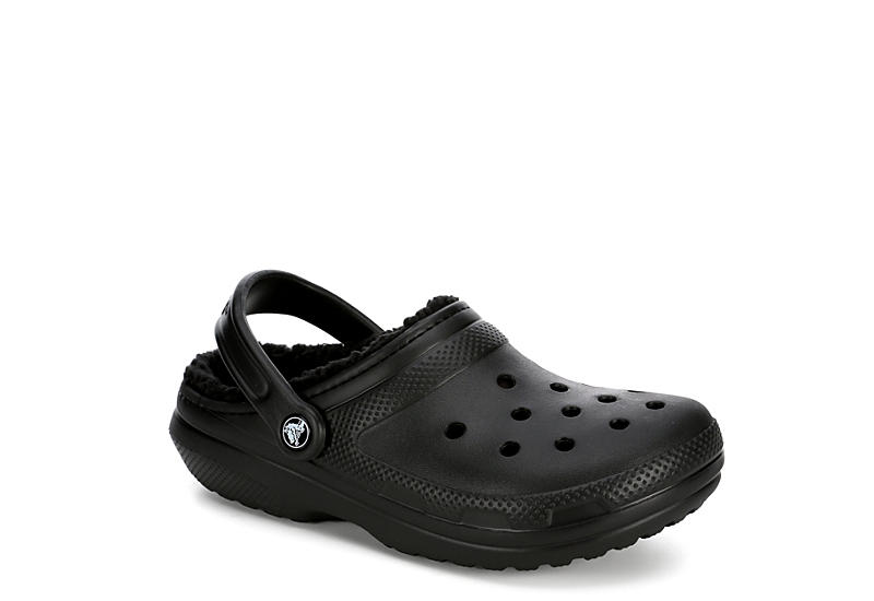 7c453a8da Black Crocs Classic Fuzz Lined Women s Clog