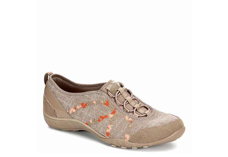 newest 22a7d 49b63 Skechers Womens Breathe Easy - Garden Joy - Taupe