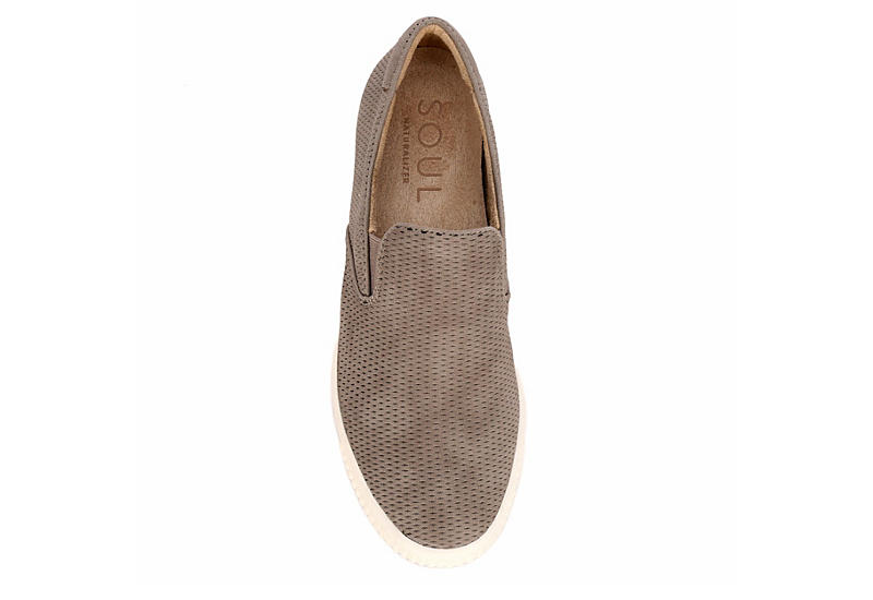 NATURAL SOUL BY NATURALIZER Womens Tia Slip On Sneaker - TAUPE