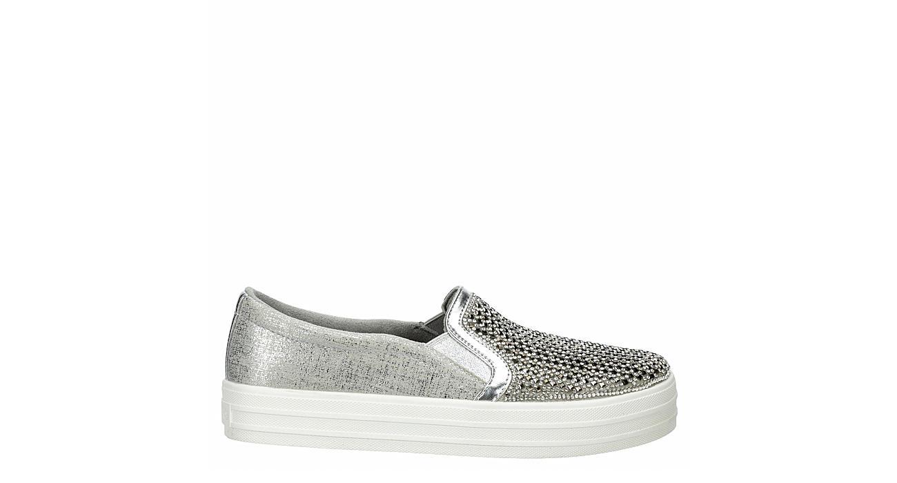 SKECHERS Womens Diamond Eyez Slip On Sneaker - SILVER