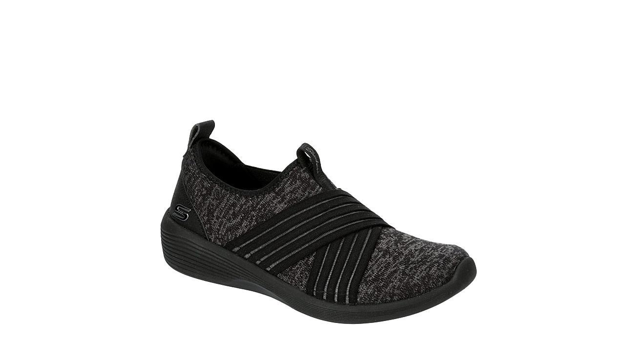 Skechers Sport-Active Womens Cross Fire Slip On Sneaker - BLACK