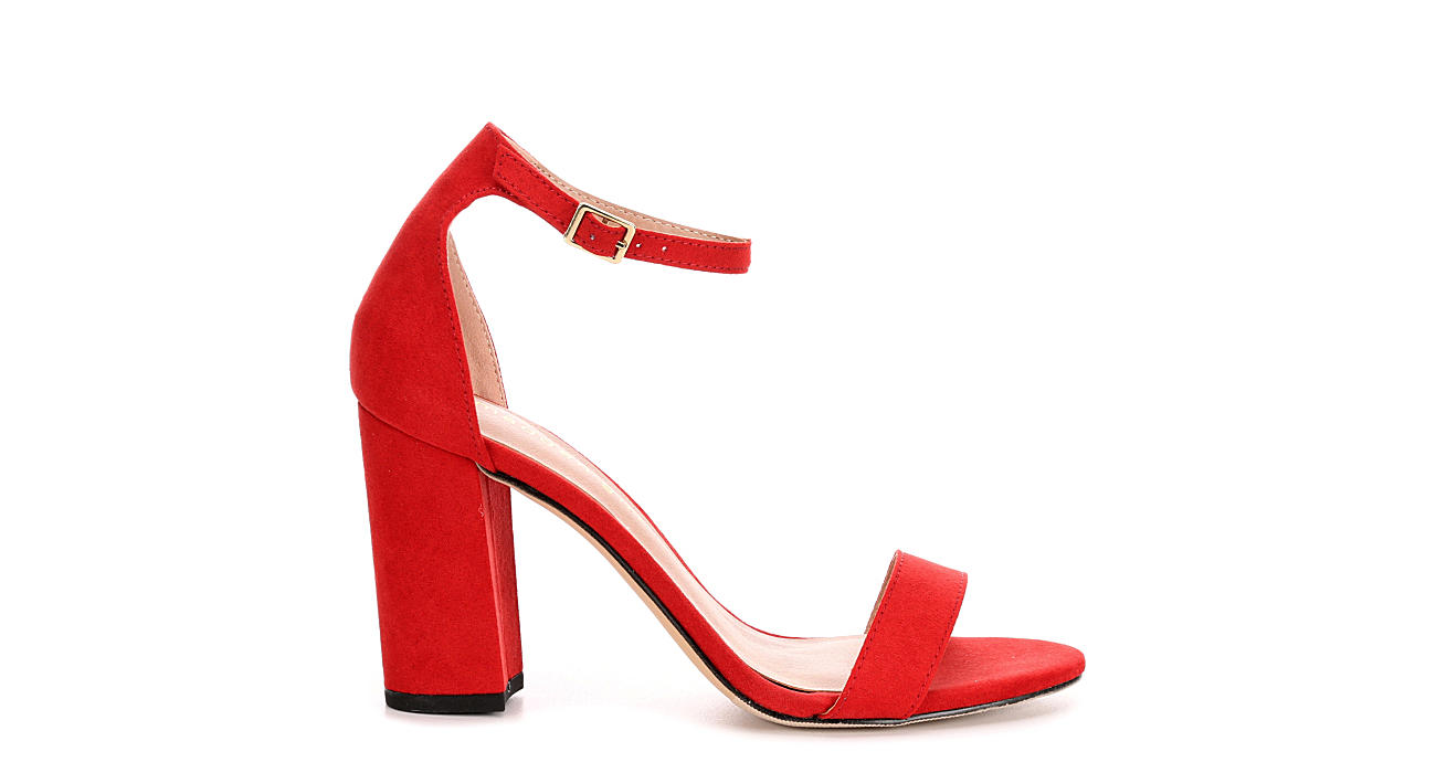 46724b033bc Red Madden Girl Beella Block Heel Dress Sandals