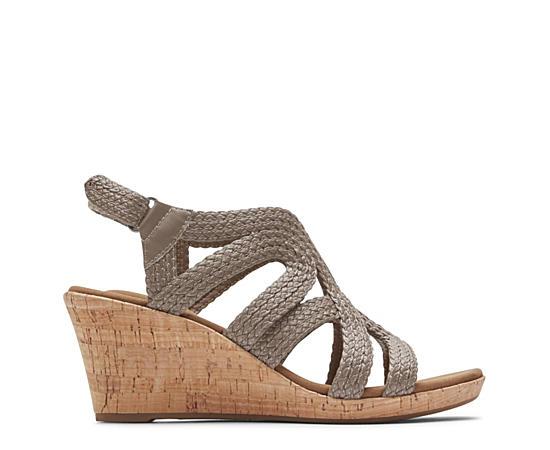Womens Briah Braided Wedge Sandal