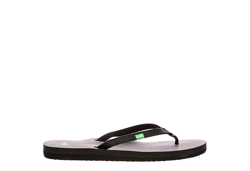 SANUK Womens Yoga Joy Flip Flop Sandal - BLACK