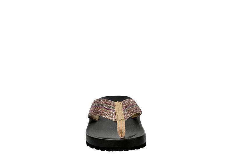 BLUEFIN Womens Milos Flip Flop Sandal - MED METALLIC