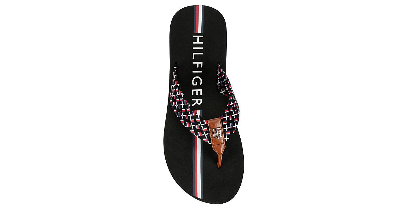 TOMMY HILFIGER Womens Corte Flip Flop Sandal - BLACK