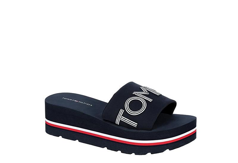 Navy Tommy Hilfiger Womens Ashe Platform Slide Sandal | Platforms | Rack  Room Shoes