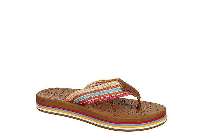 ROXY Womens Gianna Hi Flip Flop Sandal - MULTICOLOR