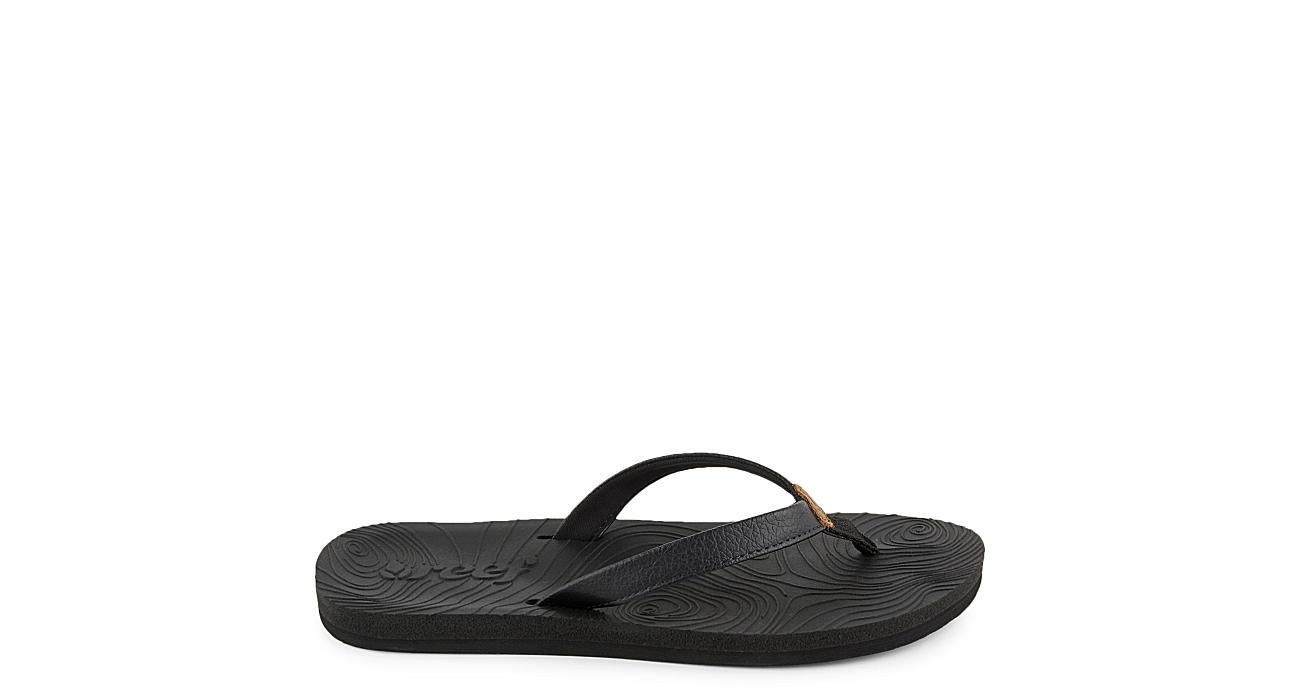 REEF Womens Reef Zen Love Flip Flop Sandal - BLACK