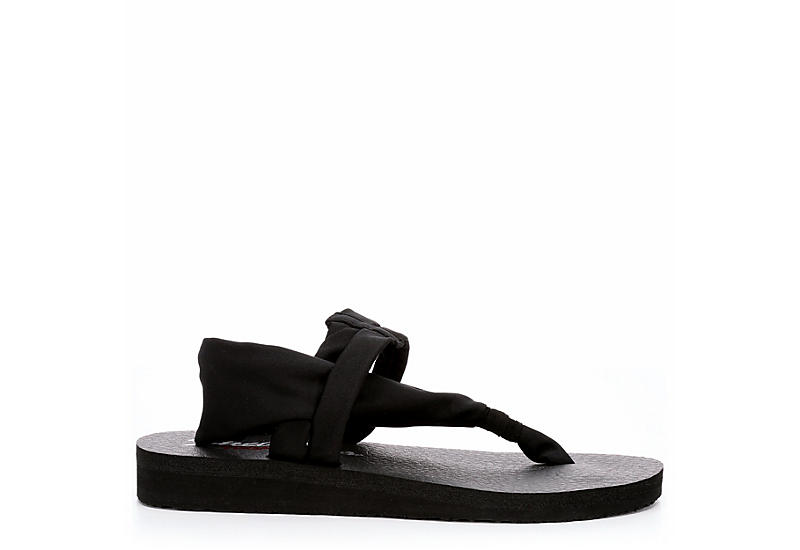 SKECHERS CALI Womens Studio Kicks Sandal - BLACK