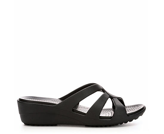 crocs. Womens Sanrah Strappy Wedge