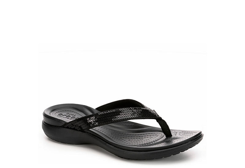 f08257986 Black Crocs Capri V Women's Flip Flops | Rack Room Shoes