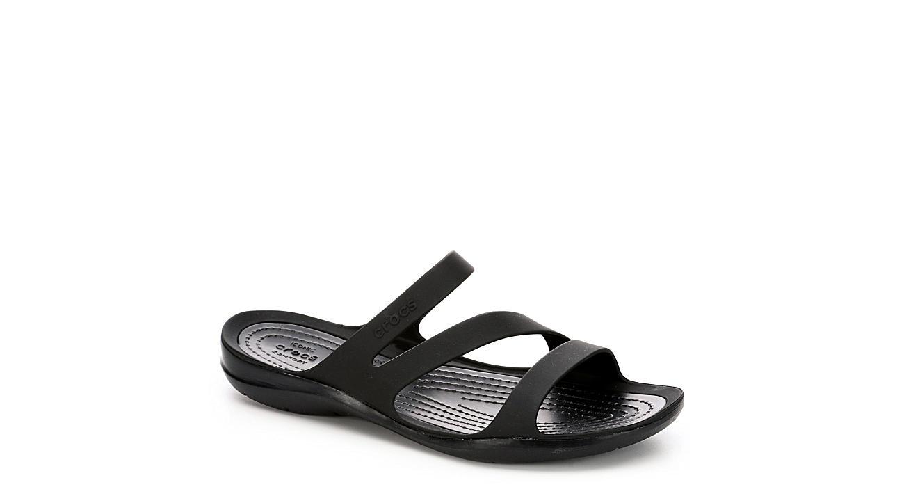 CROCS Womens Swiftwater Slide Sandal - BLACK