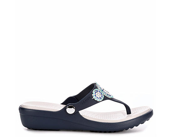 Womens Sanrah Diamante Wedge