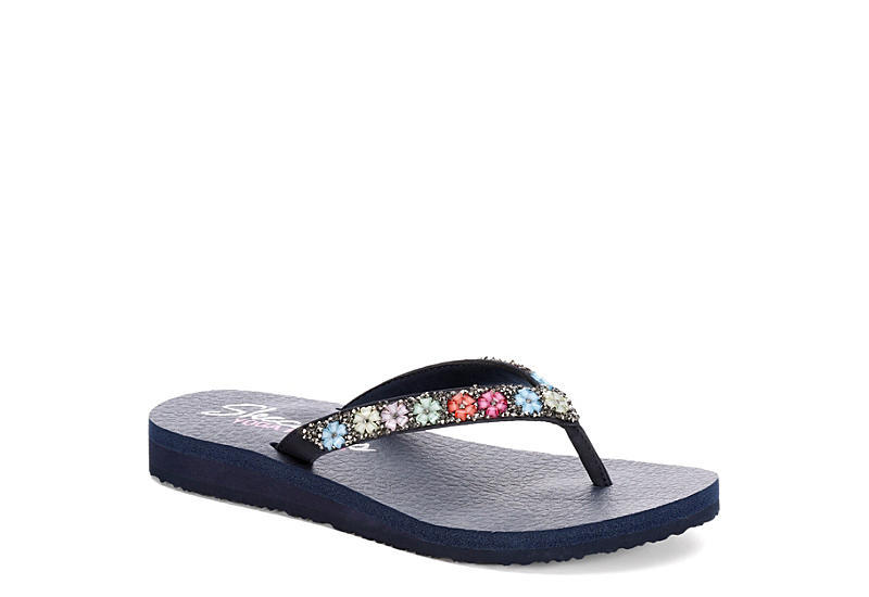 8765908cc6 Navy Skechers Cali Womens Meditation - Daisy Delight | Sandals | Rack Room  Shoes