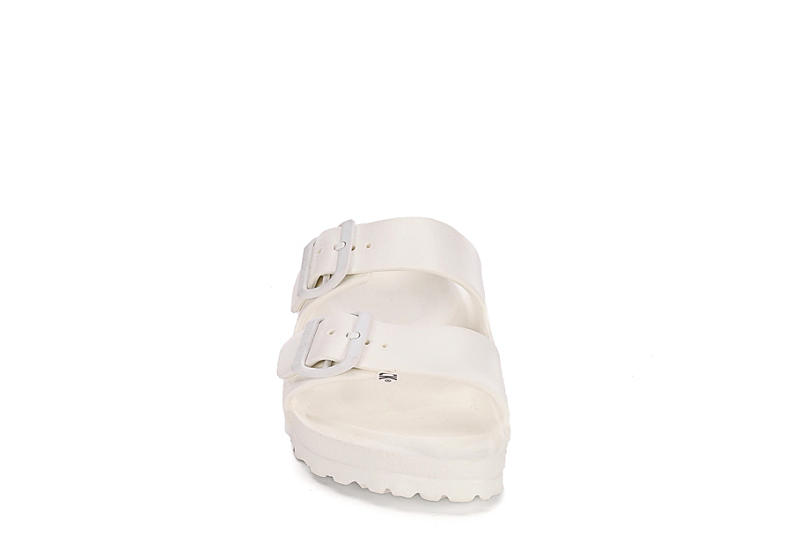BIRKENSTOCK Womens Arizona Essentials Slide Sandal - WHITE