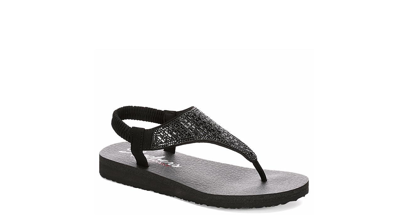 SKECHERS CALI Womens Rock Crown Sandal - BLACK