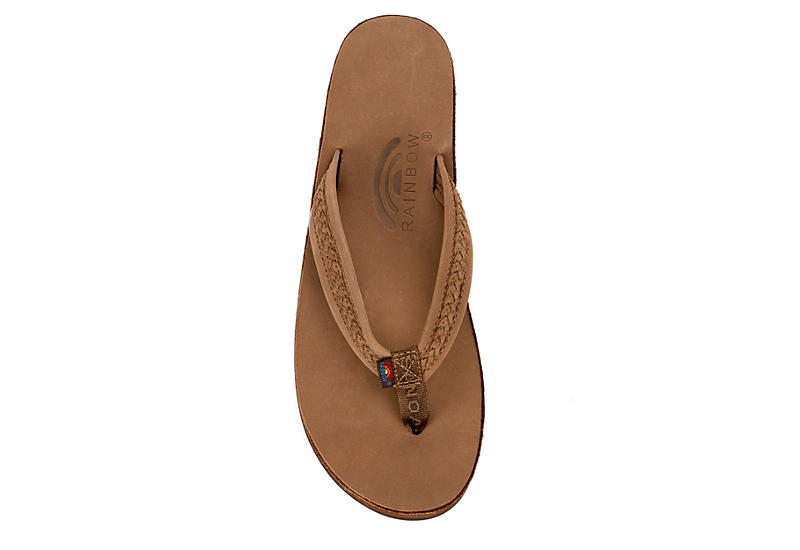 RAINBOW SANDALS Womens Willow Flip Flop Sandal - DARK BROWN