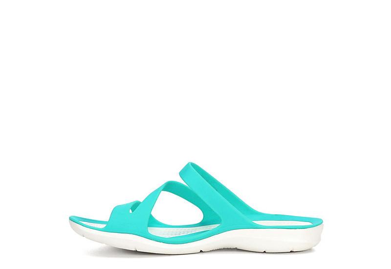 CROCS Womens Swiftwater Slide Sandal - TURQUOISE