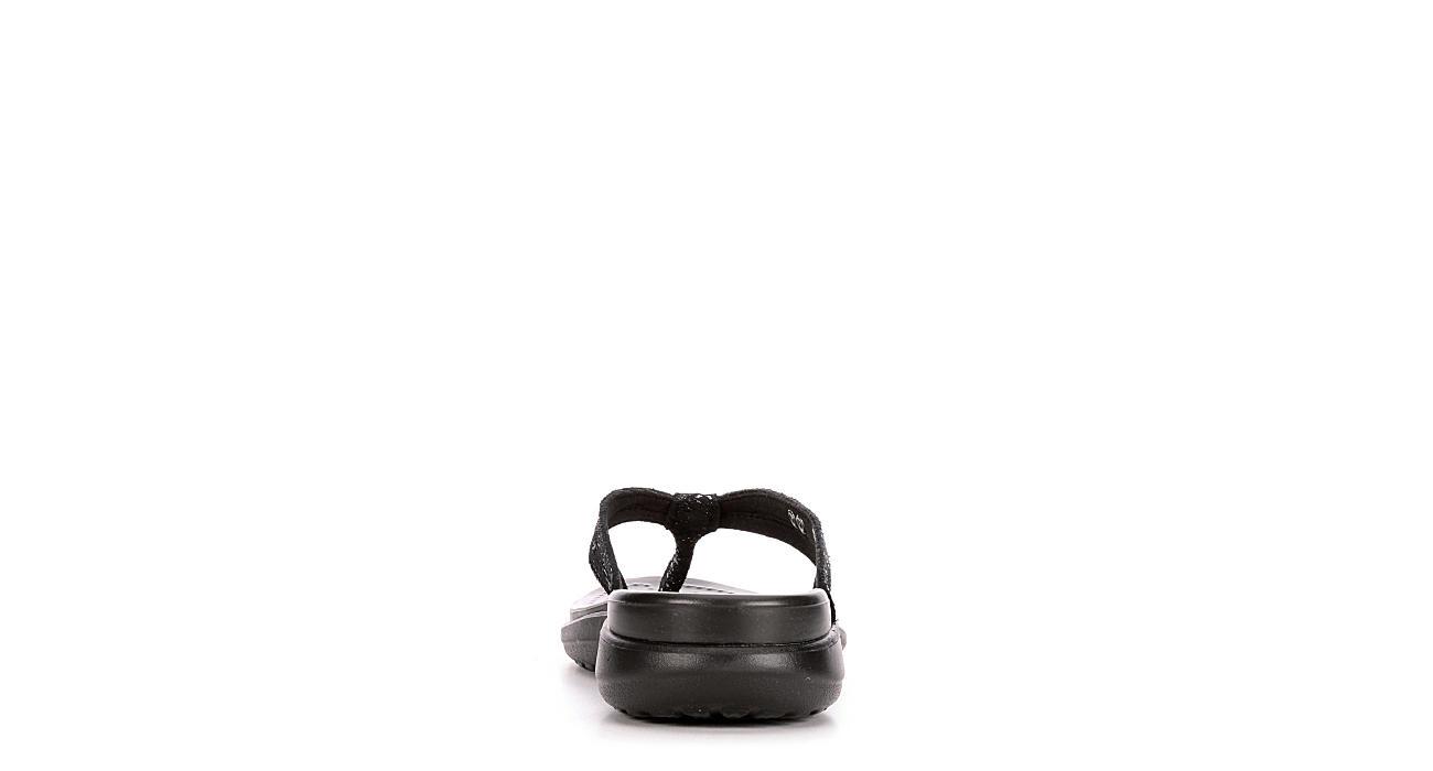 CROCS Womens Capri Strappy Flip - BLACK