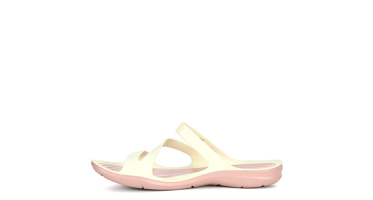 CROCS Womens Swiftwater Slide Sandal - OFF WHITE