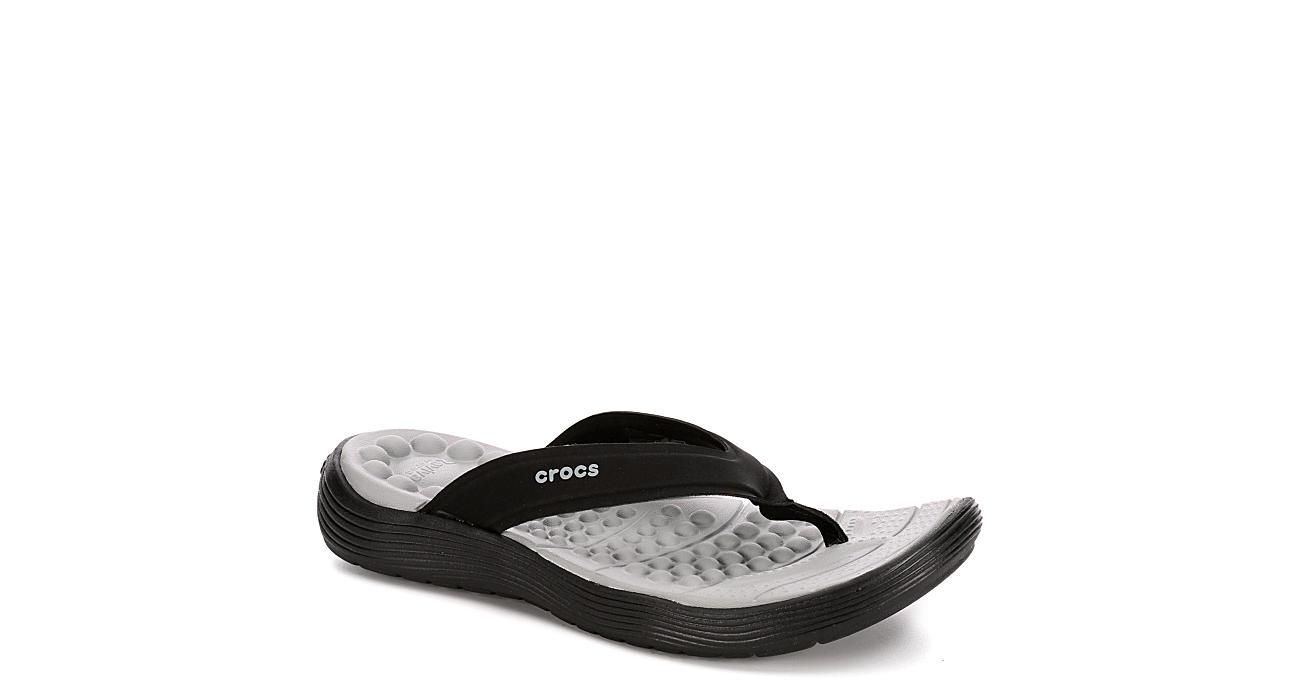 4d4dd6d78ee7 Black Crocs Reviva Women s Flip Flops