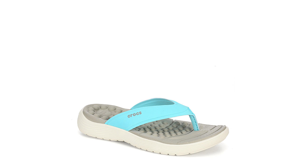 CROCS Womens Reviva Flip - PALE BLUE
