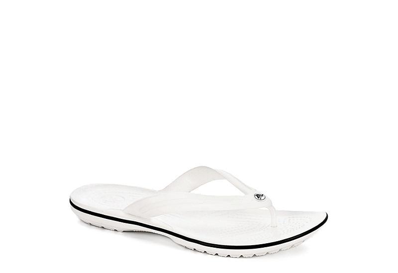 CROCS Womens Crocband Flip - WHITE