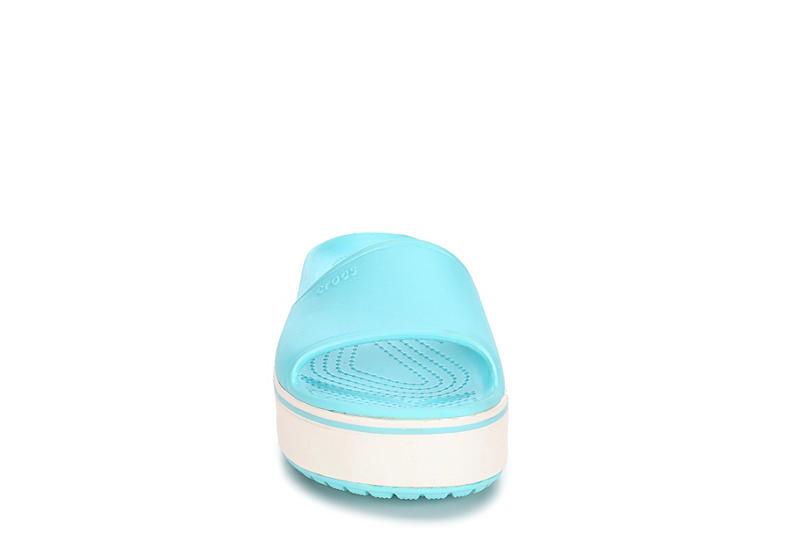 CROCS Womens Crocband Platform Slide - PALE BLUE