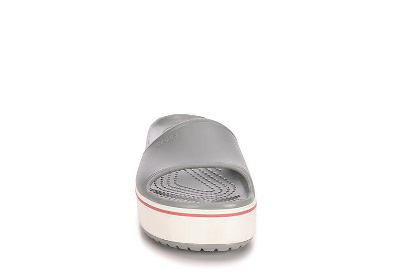 CROCS Womens Crocband Platform Slide - GREY