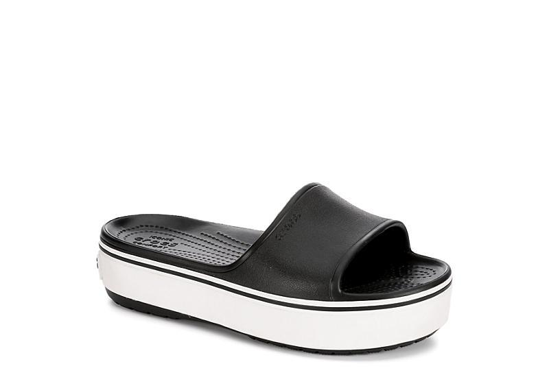 5024a3ada8447 Crocs Womens Crocband Platform Slide - Black