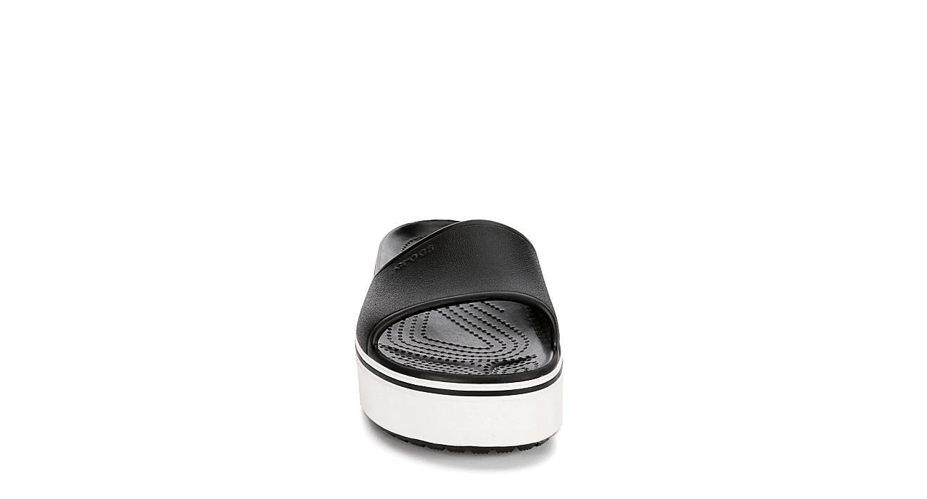 CROCS Womens Crocband Platform Slide - BLACK