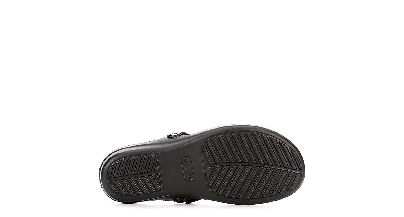 CROCS Womens Sanrah Metalblock Flip - BLACK
