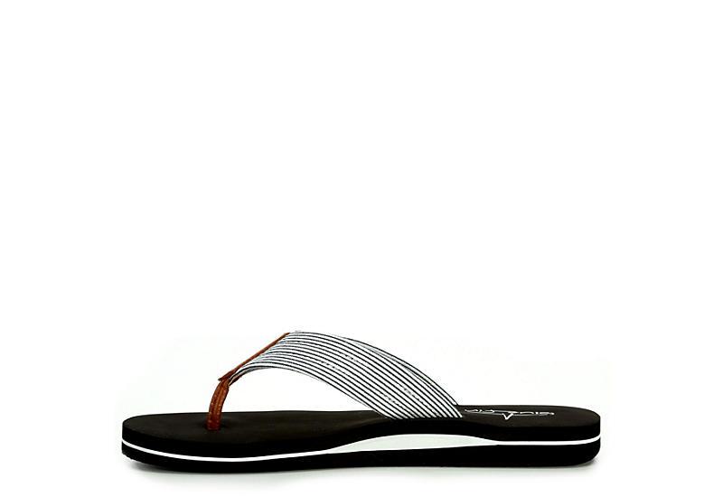 BLUEFIN Womens Cathy Flip Flop Sandal - BLACK