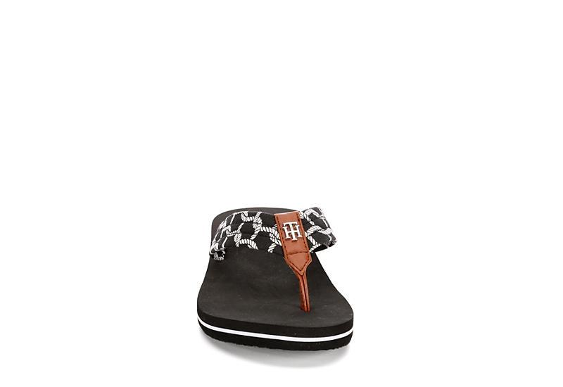 TOMMY HILFIGER Womens Cranie Flip Flop Sandal - BLACK
