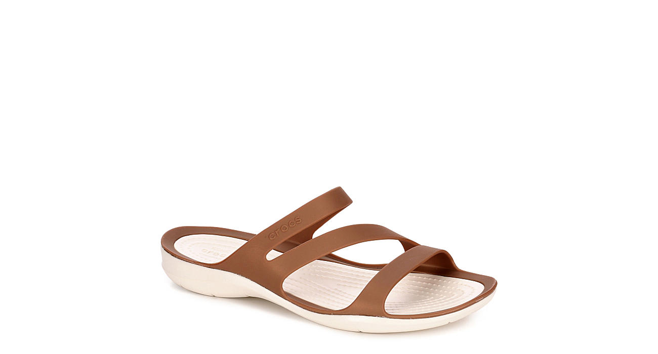 CROCS Womens Swiftwater Sandal - BRONZE