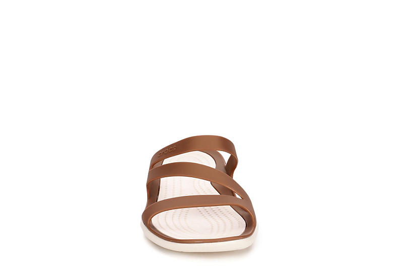 CROCS Womens Swiftwater Slide Sandal - BRONZE