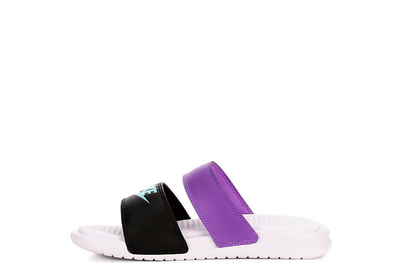 NIKE Womens Benassi Duo Slide Sandal - BLACK