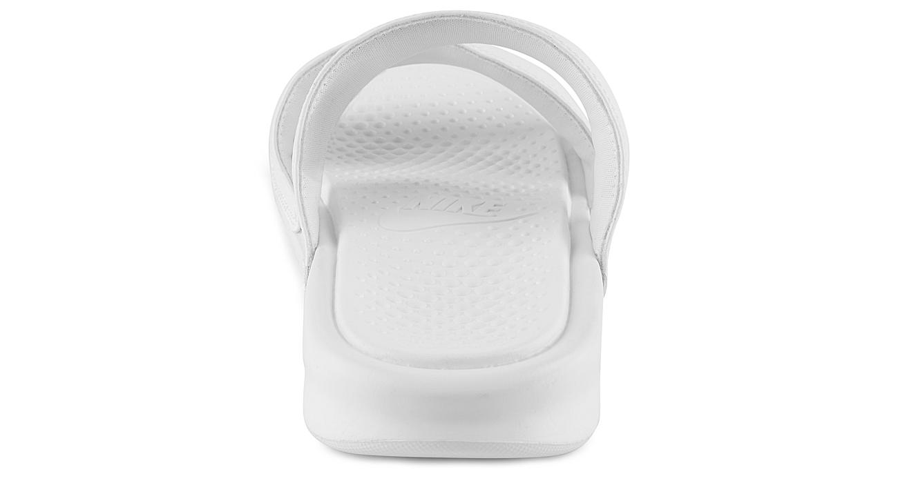 NIKE Womens Benassi Duo Slide Sandal - WHITE