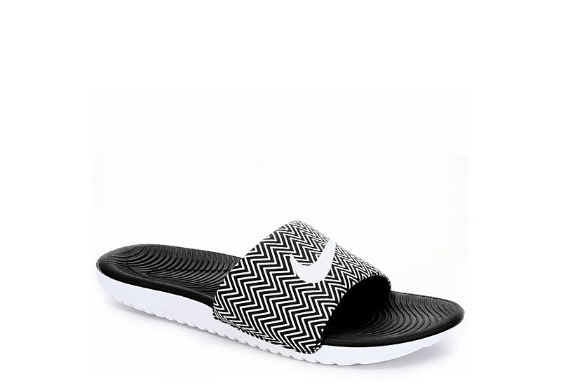 7b4c879eb3e04 Black Nike Womens Kawa Slide