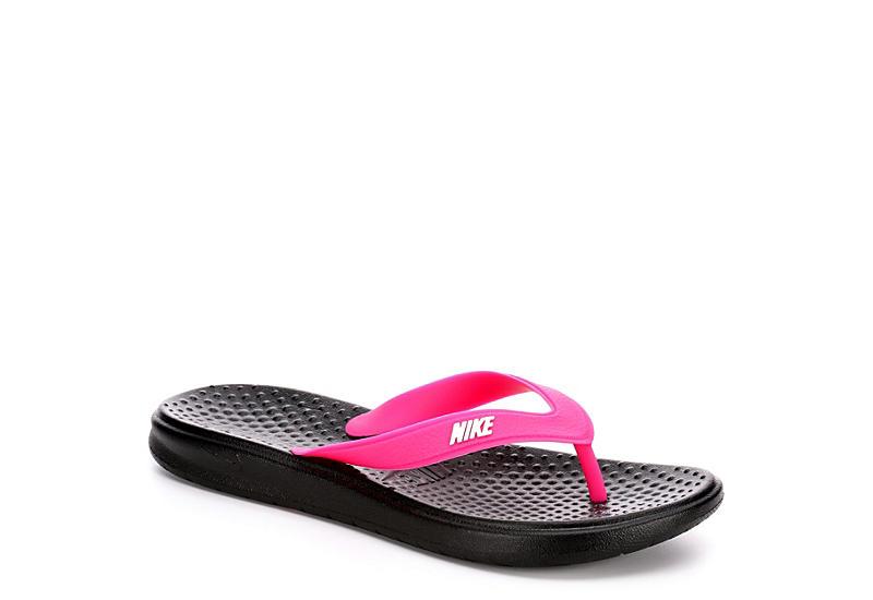 Nike Women's Flip Solay Blackamp; Pink Room Shoes FlopsRack v8nwmOy0N