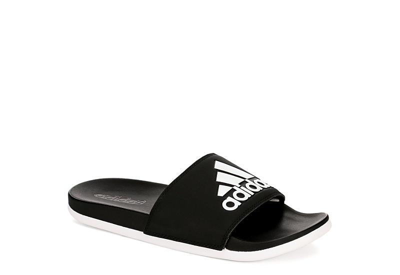BLACK ADIDAS Womens Adilette Comfort Slide Sandal