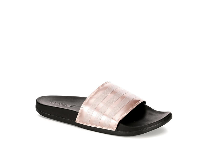 Rose Gold adidas Adilette Womens Comfort Slides  bb439686b