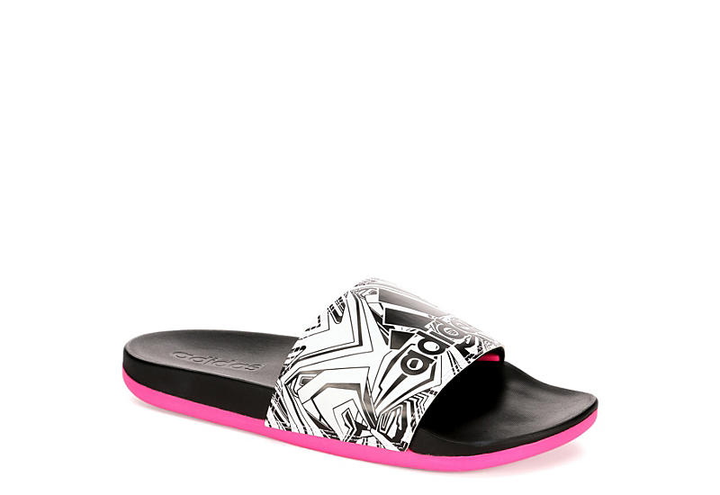 7265c0319e6e50 Black Pink adidas Adilette Women s Comfort Sandals