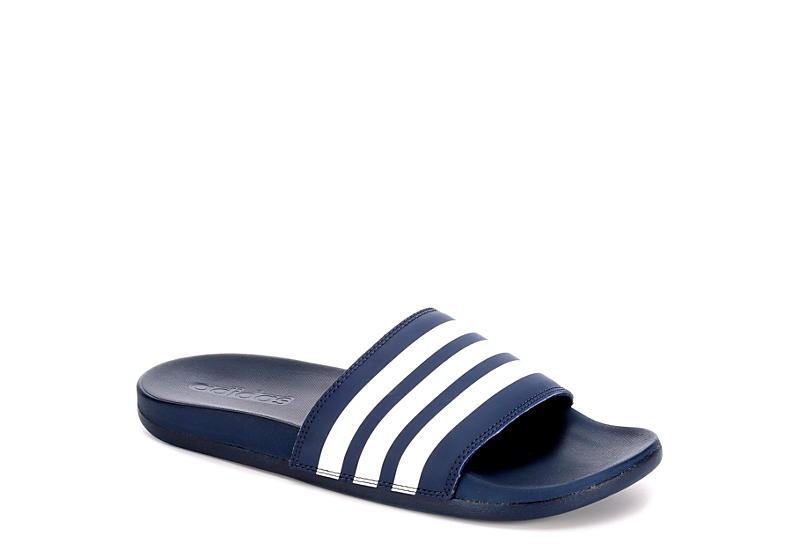 Blue   White adidas Adilette Women s Slides  c2c01524c5