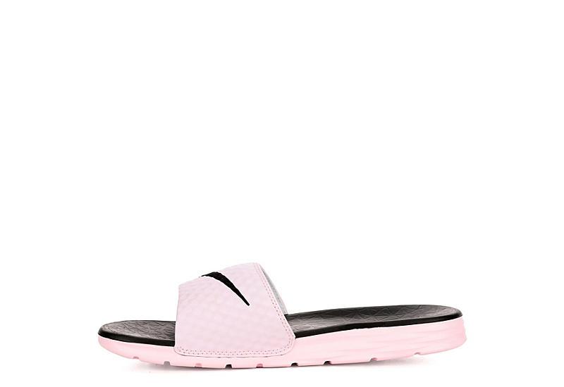 NIKE Womens Benassi Solarsoft Slide Sandal - PINK