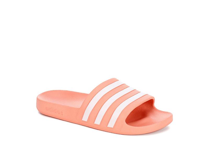 c57ca4f44b3a Coral adidas Adilette Aqua Women s Slides