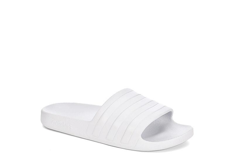 2fe3f0bd0 White Adidas Womens Adilette Aqua | Athletic | Rack Room Shoes