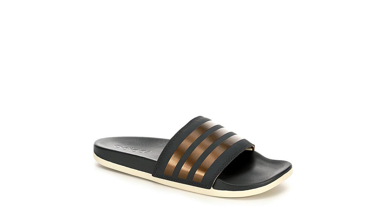 ADIDAS Womens Adilette Comfort Slide Sandal - DARK GREY