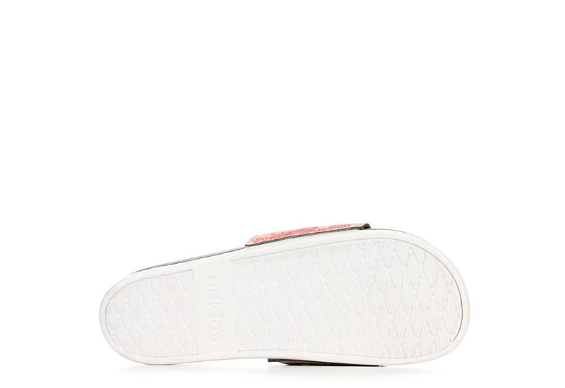 ADIDAS Womens Adilette Comfort Slide Sandal - PEACH
